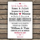 Lovers Metal Wall Sign PERSONALISED, ref LMWS